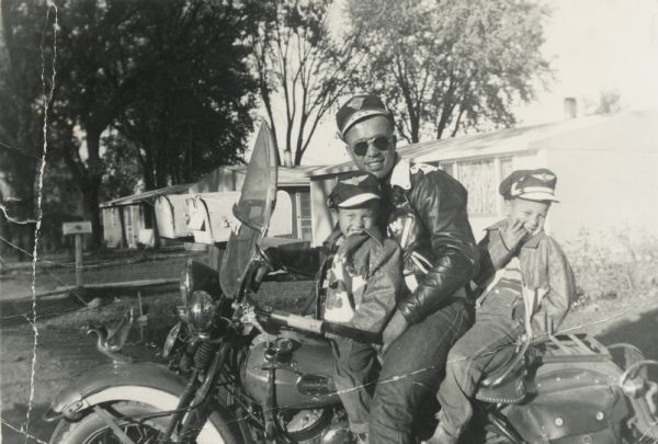 Lewis Arms and Boys on a Motorcycle