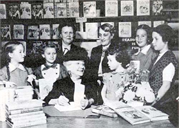 Laura Ingalls Wilder Booksigning November 17, 1952 at Brown Brothers Book Store in Springfield, MO