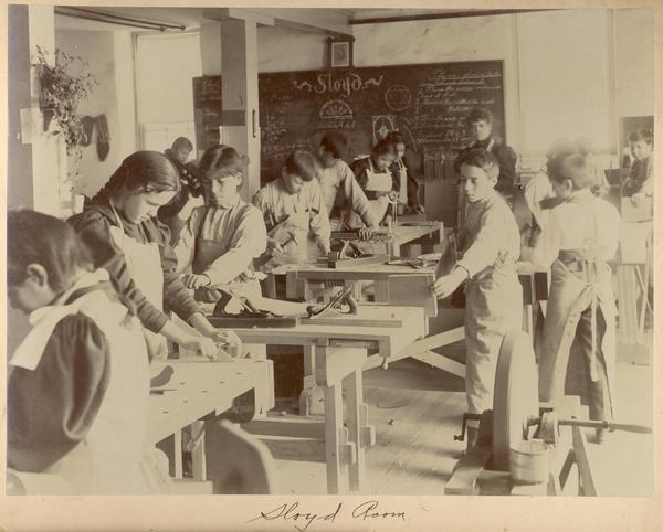 Sloyd Room At Indian Industrial School, WHI 28058.