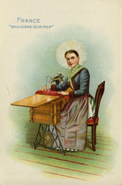 French Singer Advertising card, 1892. WHI 57867.