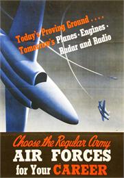 Air Force Recruitment Poster for World War II.