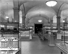 View of the hall that held the Eagle Diamond until its theft in 1964.