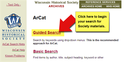 Screenshot image of Archives Catalog (ArCat)
