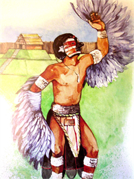 A Middle Mississippian Eagle Dancer.
