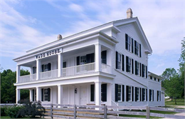 The historic Wade House stagecoach hotel in Greenbush, Wisconsin