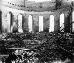Ruins of the Senate Chamber at the Wisconsin State Capitol after the fire of February 26-27.