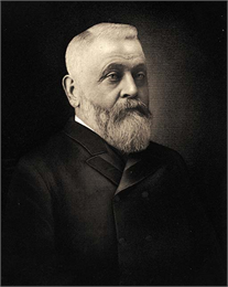 Portrait of Conrad Seipp, Chicago beer baron and the builder of Black Point Estate.