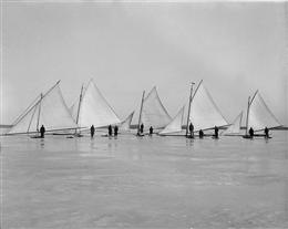 Ice boats on Lake Mendota