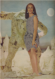 Second paper dress shown in an issue of Life Magazine