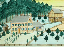 Landscape view of the Martin Luetscher II farmstead