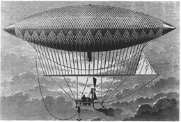 French engineer Henri Giffard designed and flew an airship in 1852. Eyewitnesses to the 1897 appearances in Wisconsin described a ship similar to Giffard's.