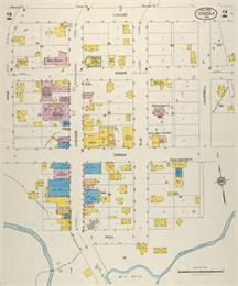 Oscela map shows Spring, Cedar and Locust Streets.