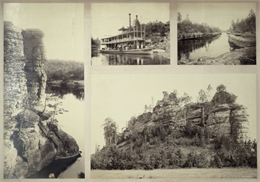 A composite of photographs from various places in the Wisconsin Dells.