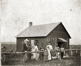 choolhouse of District #5 in Pleasant Ridge built on land donated by Isaac Shepard.
