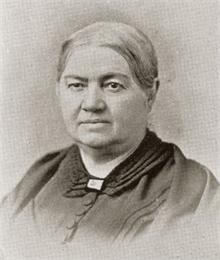 Black and white portrait of Elizabeth Baird.