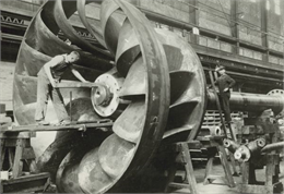 Man Working at the Allis-Chalmers Manufacturing Company