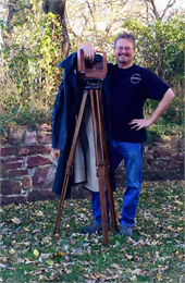 Dave Rambow with modern wet plate camera