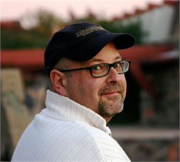 This is an image of Michael Ditmer, co-owner and manager of Still Bend in Two Rivers, WI.