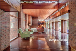 This is an image of the interior of the Bernard Schwartz House.