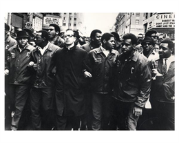 Father James Groppi at NAACP March, 1968. WHI 1912