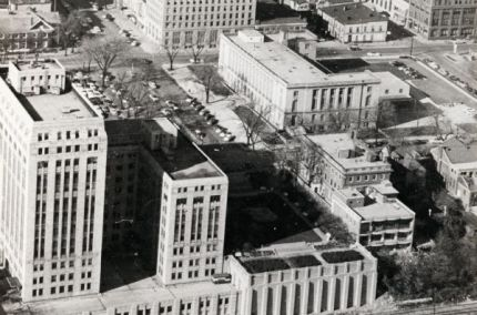 Photograph of the State Office Building, 1 West Wilson Street, ca. 1954.