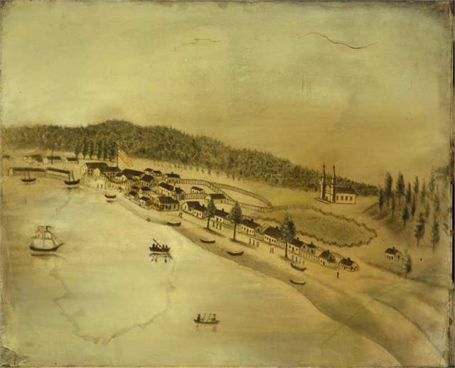View of La Pointe, Madeline Island, 1834