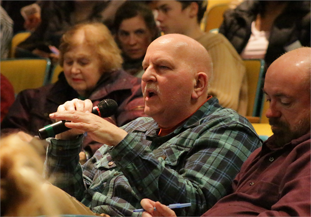 "A man describes his favorite museum experiences during the Feb. 19, 2019 ""Share Your Voice"" session at the Society headquarters in Madison."