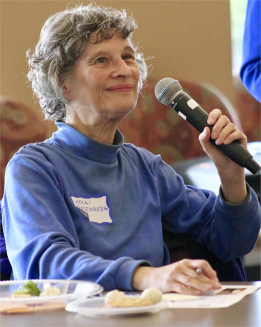 "Holli Rosenberg makes a comment during the Wisconsin Historical Society's ""Share Your Voice"" new museum listening session May 22, 2019 at the Civil War Museum in Kenosha."