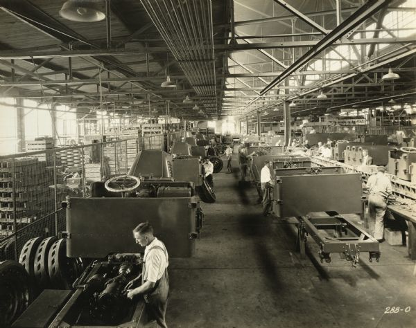 Interior of the Truck Assembly Room at the Winther