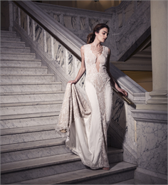 Majestic Bride walking down steps