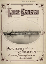 Title page of a book about Lake Geneva showing two steamboats.