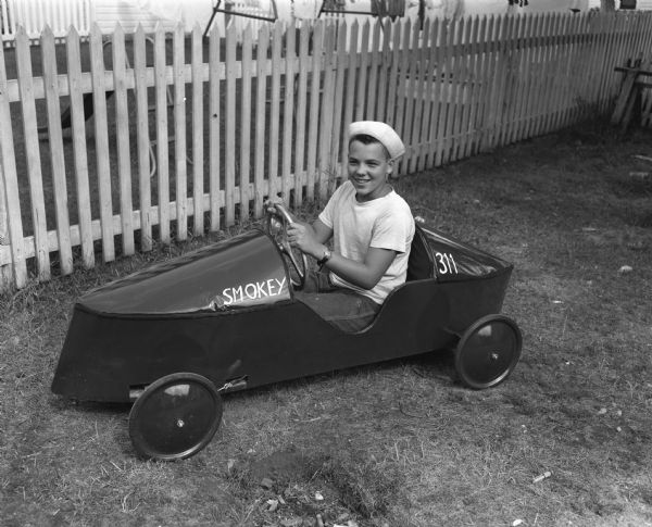 Soap box derby racer, Madison, 1948. WHI 53496.