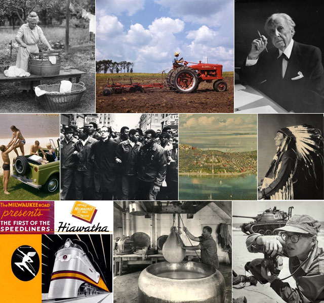 Collage of images from the Society's collections.