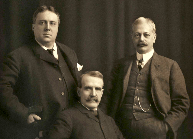 Three prominent men in Milwaukee, Wisconsin in the early 20th century.
