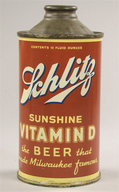 Schlitz 'Sunshine Vitamin D Beer Can'