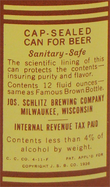 Description on the can.