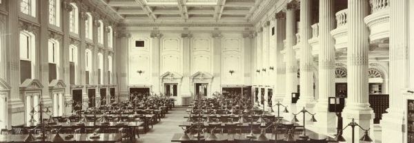 Historical Society Library Reading Room, 1908.