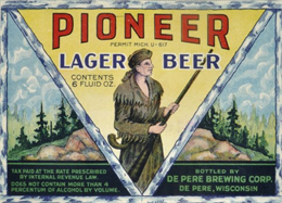 Pioneer Lager Beer, De Pere, 1933. WHI 91111.