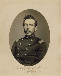 Portait of Rollin Strong in his civil war uniform.