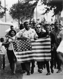 Father James Groppi in the Fair Housing March, 1966. WHI 25167.