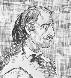 Head and shoulders sketch of Pierre Esprit Radisson.