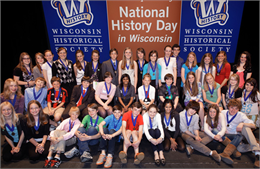 Group portrait of 50 state contest winners.