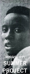 Cover of brochure featuring a close-up black-and-white photograph of a young African-American man looking directly into the camera.