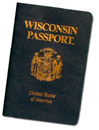 Wisconsin Passport cover.