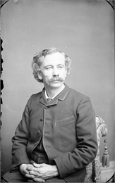 A studio portrait of H.H. Bennett, the Wisconsin Dells photographer