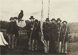 Old Abe and His Regiment Color Guard, WHI 78934