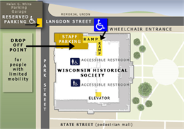Accessibility map for the Wisconsin Historical Society