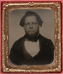 Tintype portrait of Lyman Draper (1815-1891), an American historical collector and librarian.