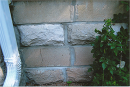 Concrete block foundation