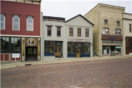 Restored commercial buildings